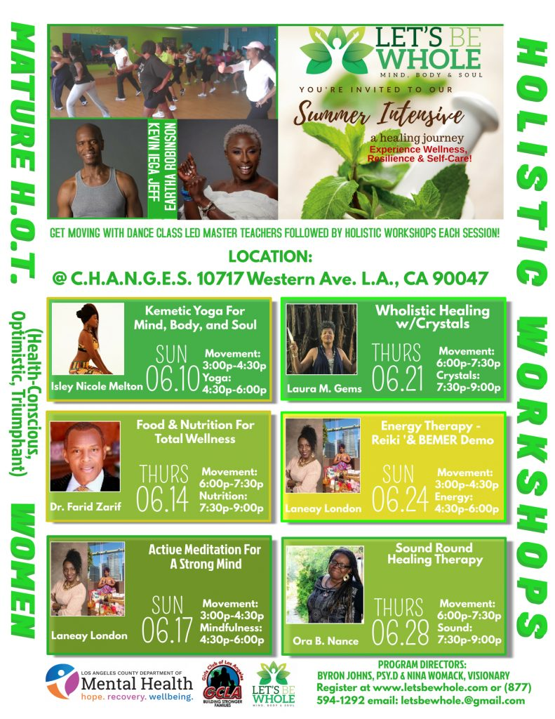 Summer Intensive Holistic Workshop Series