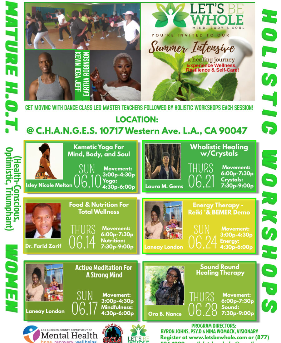 From Yoga, to healing with Crystals, Nutrition, Reiki and more, Let's Be Whole in partnership with the Girls Club of L.A. inspired women in the community to utilize stress management tools.